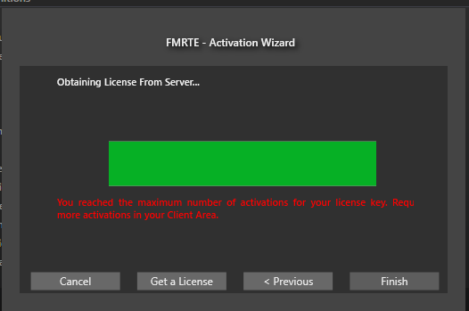 activation key fmrte 2016